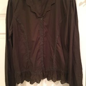 Ralph Lauren Fitted Peasant Blouse XL